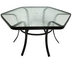 Glass Table Patio Set Hexagon Glass Patio Table Ideas For The House Pinterest