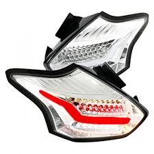 spec d tail lights spec d led tail lights ford focus clear chrome 15 16 lt