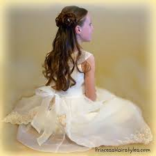 flowergirl hair half up rosette buns flower girl hairstyles hairstyles for