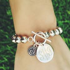 monogram jewelry cheap monogrammed bracelet from marleylilly fashion ootd