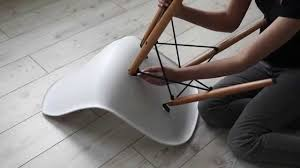how to assemble voga com u0027s replica charles eames dsw chair youtube