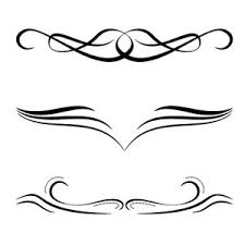 free calligraphic ornaments vector freevectors net