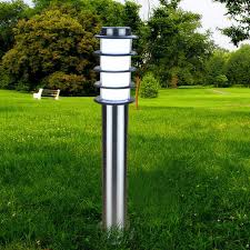 Bollard Landscape Lighting Curved Black 19 1 4 H Low Voltage Led Landscape Path Light Path