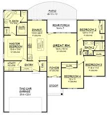 ranch style house plan 4 beds 2 baths 1736 sq ft plan 430 105