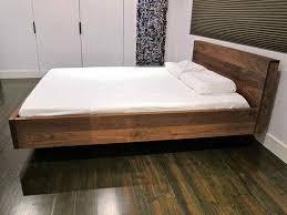 Floating Bed Frames Inspiration For Diy Bed Frame For Many Bed Type