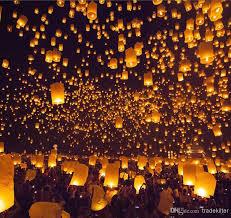 luck lanterns flying paper lantern material