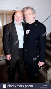 patrick stewart and ian mckellen attend the press night for