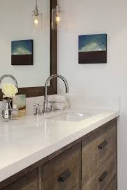 antique finish on cabinets transitional bathroom artistic