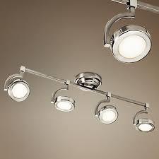 4 light led track lighting elan andlos 32 wide 4 light nickel led track kit brushed nickel