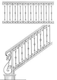 Grills Stairs Design Iron Stair Design Sketches Google Search Ironworks Pinterest