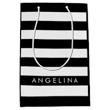 black and white striped gift bags rugby stripes gift bags zazzle