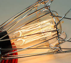 Filament Bulb Desk Lamp Vintage Industrial Chrome Pendant Cage Desk Lamp Light U0026amp