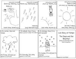 free spanish days and weather bilingual booklet plus audio cute