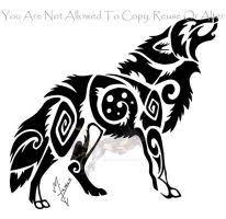 jumping tribal wolf by arixona on deviantart