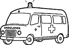 ambulance colouring pages happy for coloring