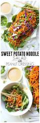 sweet potato noodle salad with peanut dressing this savory vegan