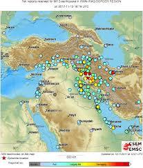 map iran iraq m7 3 iran iraq border region on november 12th 2017 at 18 18 utc