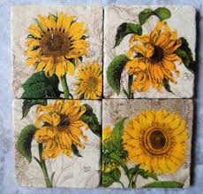 sunflower kitchen theme Sunflower Kitchen Décor in Yellow Shade