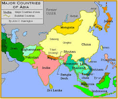 regional map of asia regional map of asia major tourist attractions maps
