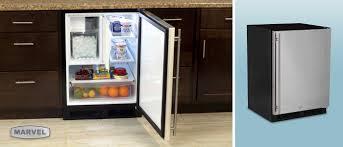 under cabinet fridge and freezer under cabinet refrigerator freezer with ice maker marvel premium