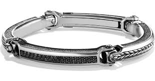 black diamonds bracelet images Lyst david yurman chevron id bracelet with black diamonds in jpeg