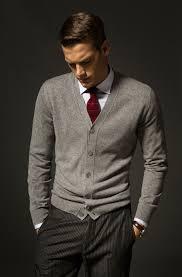 Burgundy Cardigan Mens Gray Wool Cardigan Wool Pinstripe Trousers White Shirt Burgundy