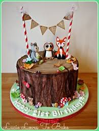woodland critter cake woodland baby shower via kara u0027s party