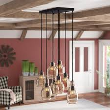 Dining Room Pendant Light Fixtures Pendant Lighting You Ll Wayfair