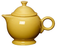 fiesta covered teapot with matching lid 44 oz in sunflower