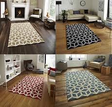 Modern Design Rugs 100 Acrylic Large Floor Rug Contemporary Geometric Design Hong