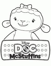 coloring pages doc mcstuffins