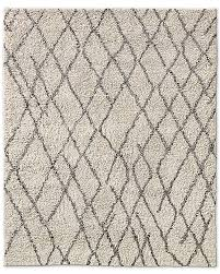 moroccan high pile wool rug cream