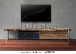 led tv on tv stand black stock photo 381753865 shutterstock