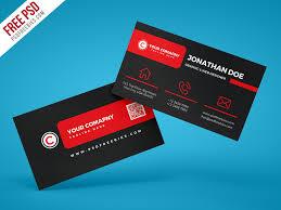 Template Business Card Psd Black Corporate Business Card Psd Template Psdfreebies Com