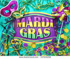mardi gras banner mardi gras banner masks pinwheel stock photo 537628288