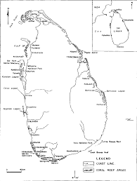 Map Of Coral Reefs 5 Coral Reefs Of Sri Lanka Current Status And Resource Management