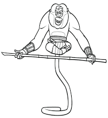 kung fu panda monkey coloring pages kung fu panda coloring pictures newsenergy club