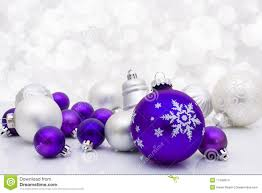 purple ornaments happy holidays