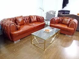 aliexpress com buy top grain leather sofa diamond tufted