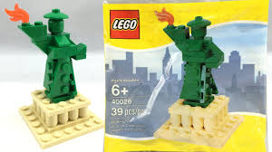 lego statue of liberty polybag review 40026 youtube