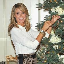 heidi klum christmas tree decorating qvc party pictures popsugar