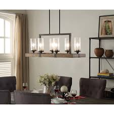 Hanging Chandelier Over Table by Illuminate Your Home With The Rustic Charm Of The Vineyard 6 Light