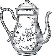 free vintage teapot clip art the graphics fairy