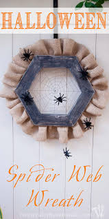 halloween spider web wreath a houseful of handmade