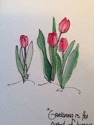 handmade watercolor cards tulips watercolor by cathy packer etsy shop with handmade