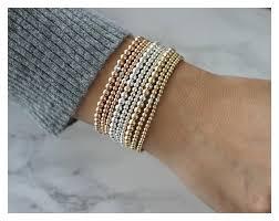 sterling bangle bead bracelet images Gold beaded bracelet gold bead bracelets 14k gold filled jpg