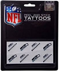 amazon com seattle seahawks temporary tattoos easily removed with