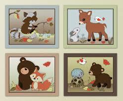 Woodland Animals Nursery Decor S L1000 Baby Room Curtain Forest Friends Woodland Animal Owlfox