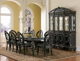 Antique Black Chandelier Dining Room Antique Black Dining Room Set With Display Cabinet