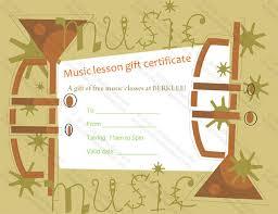 6 printable music certificate templates free word pdf